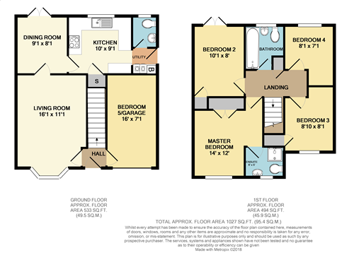 Floorplans For Pencraig Close, Kenilworth