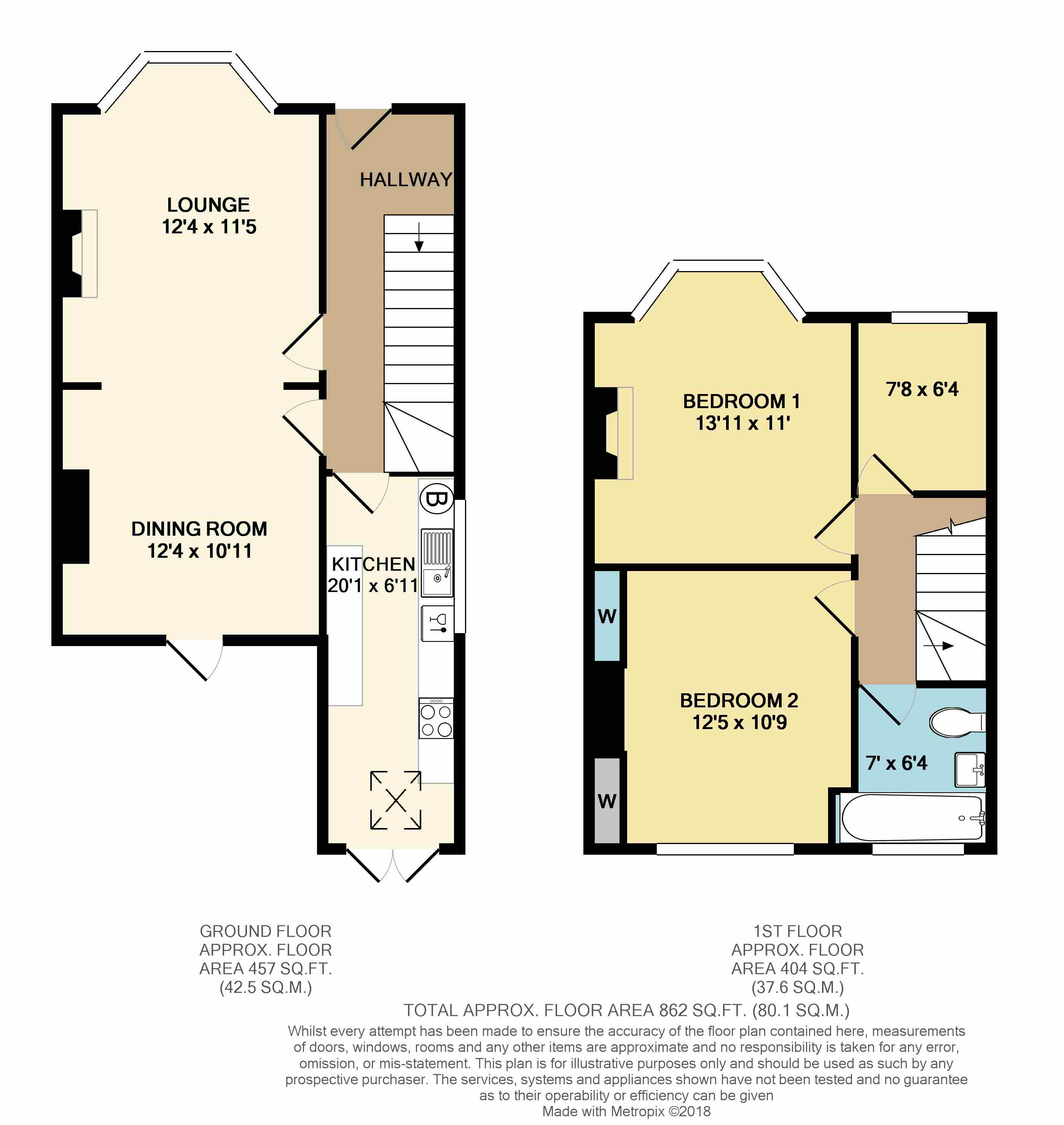Floorplans For Hart Close, Rugby
