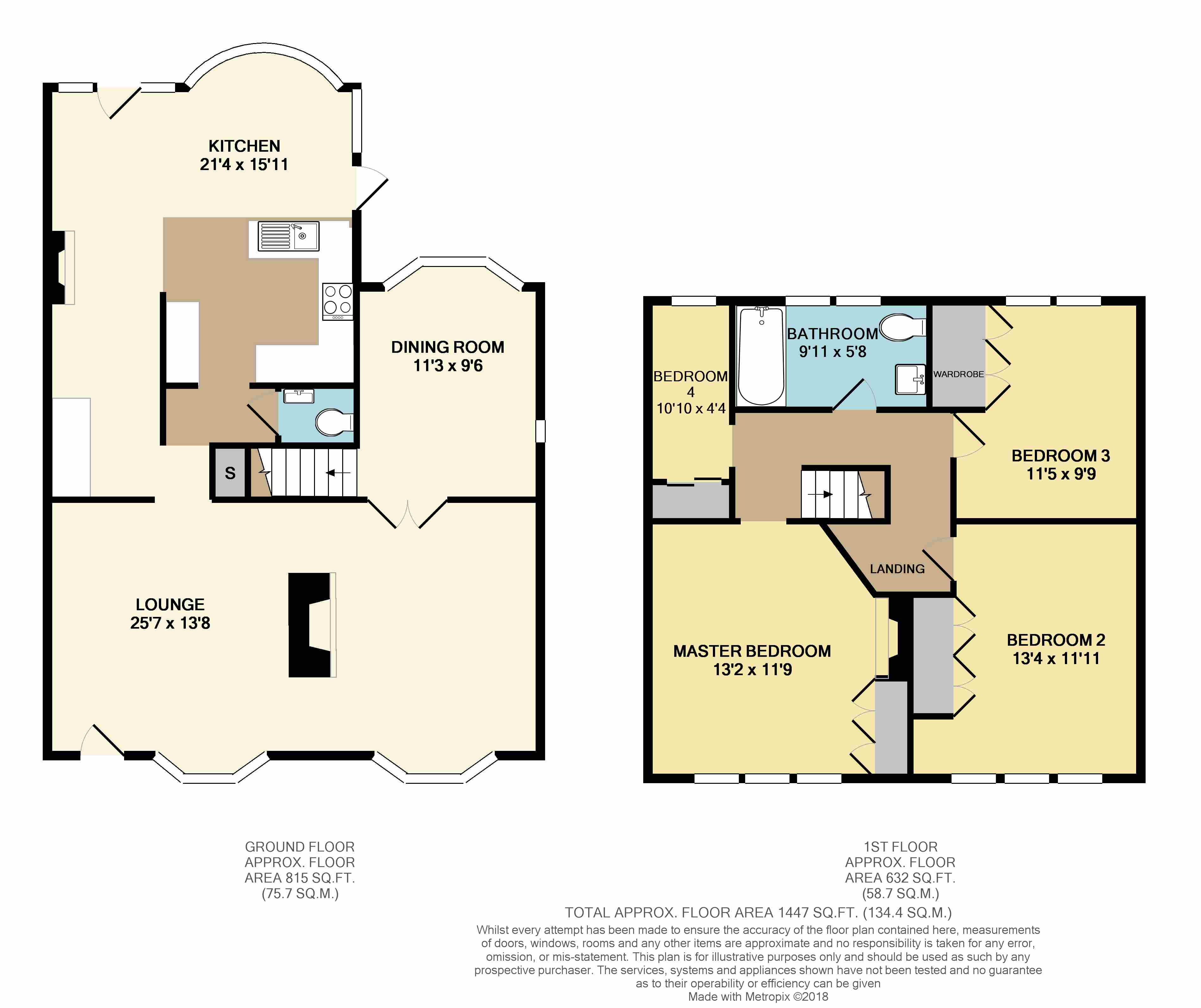 Floorplans For Southam Road, Dunchurch, Rugby