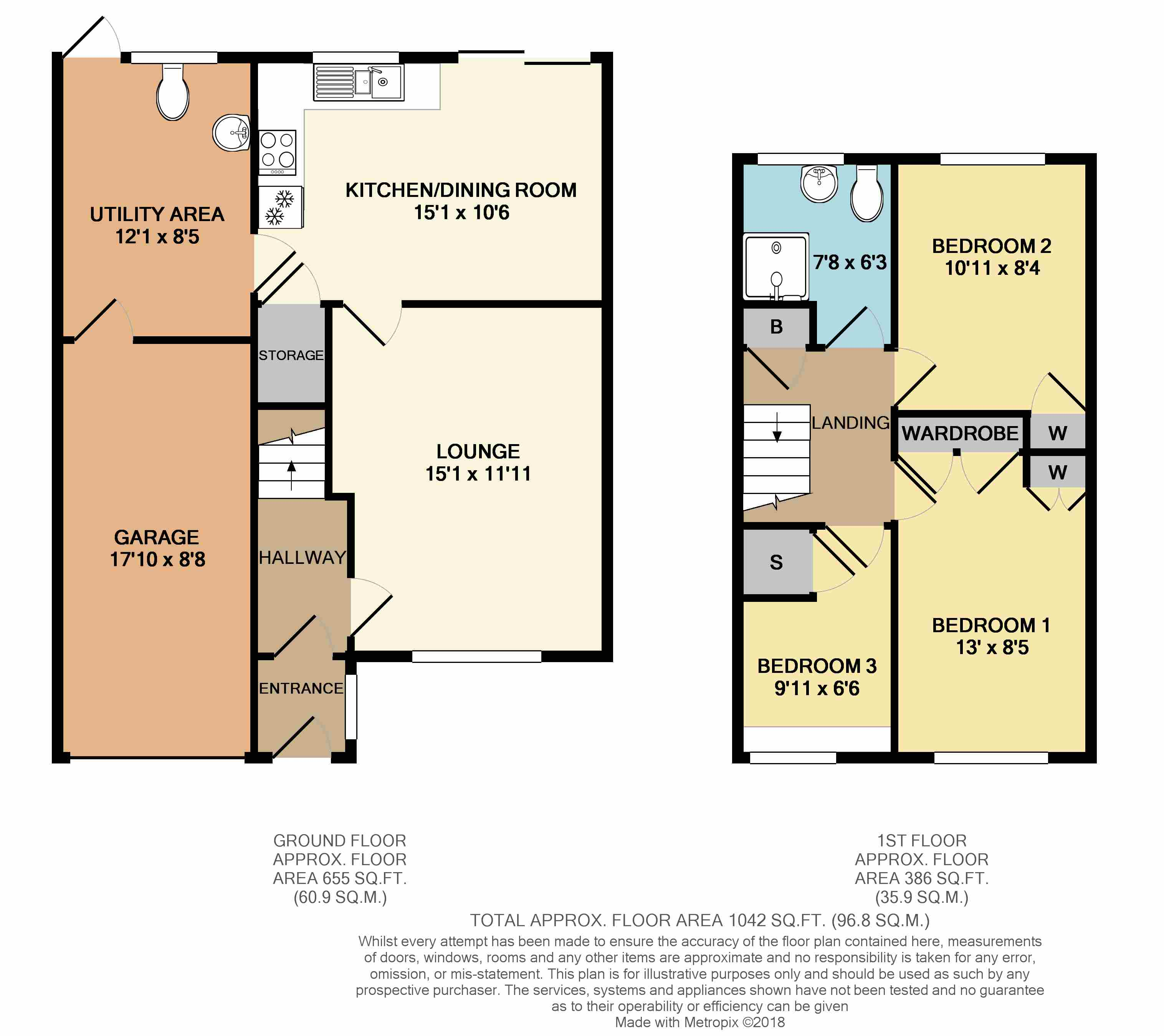 Floorplans For Weston Close, Dunchurch, Rugby