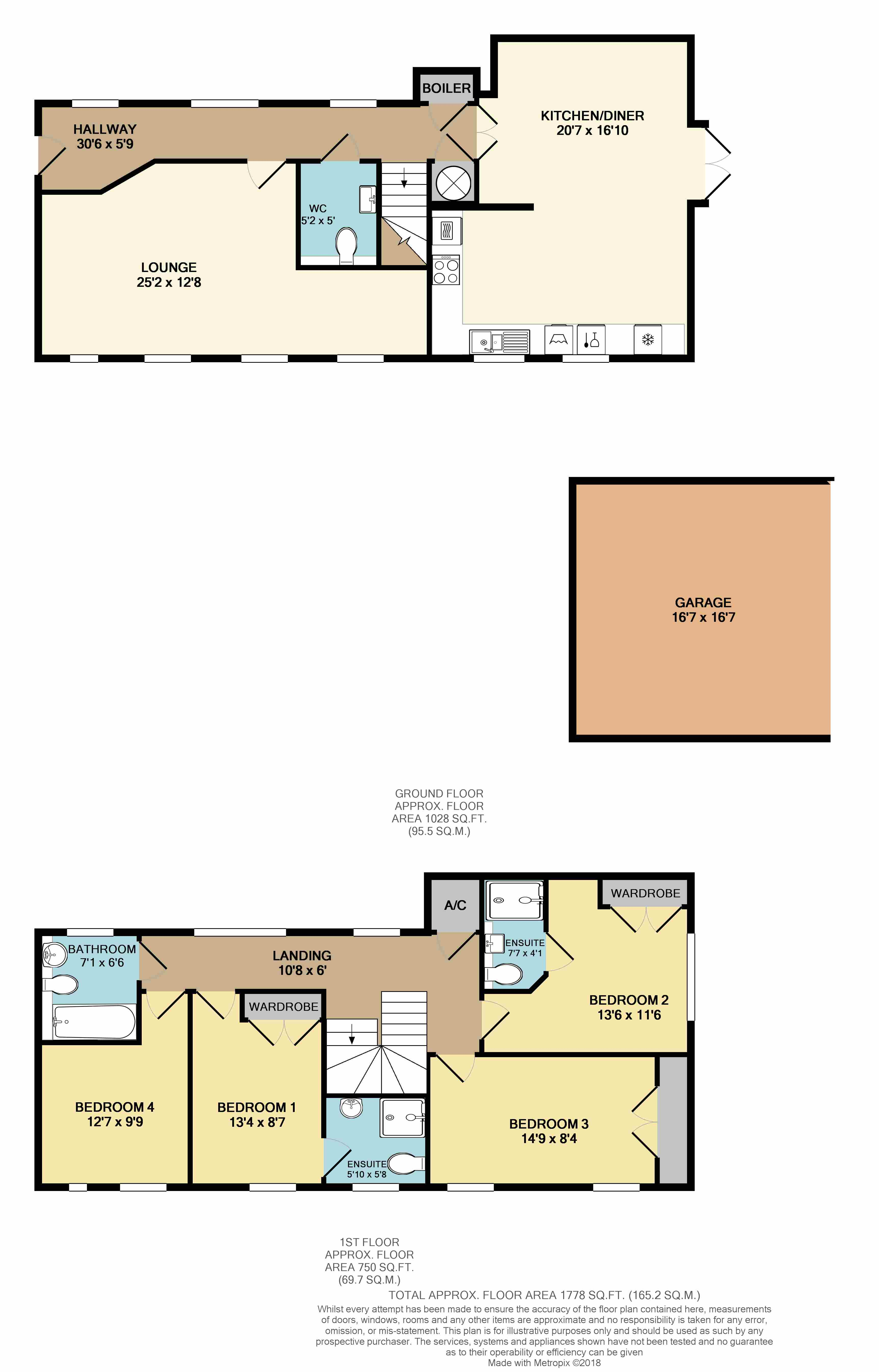 Floorplans For Stables Court, Coombe Road, Rugby