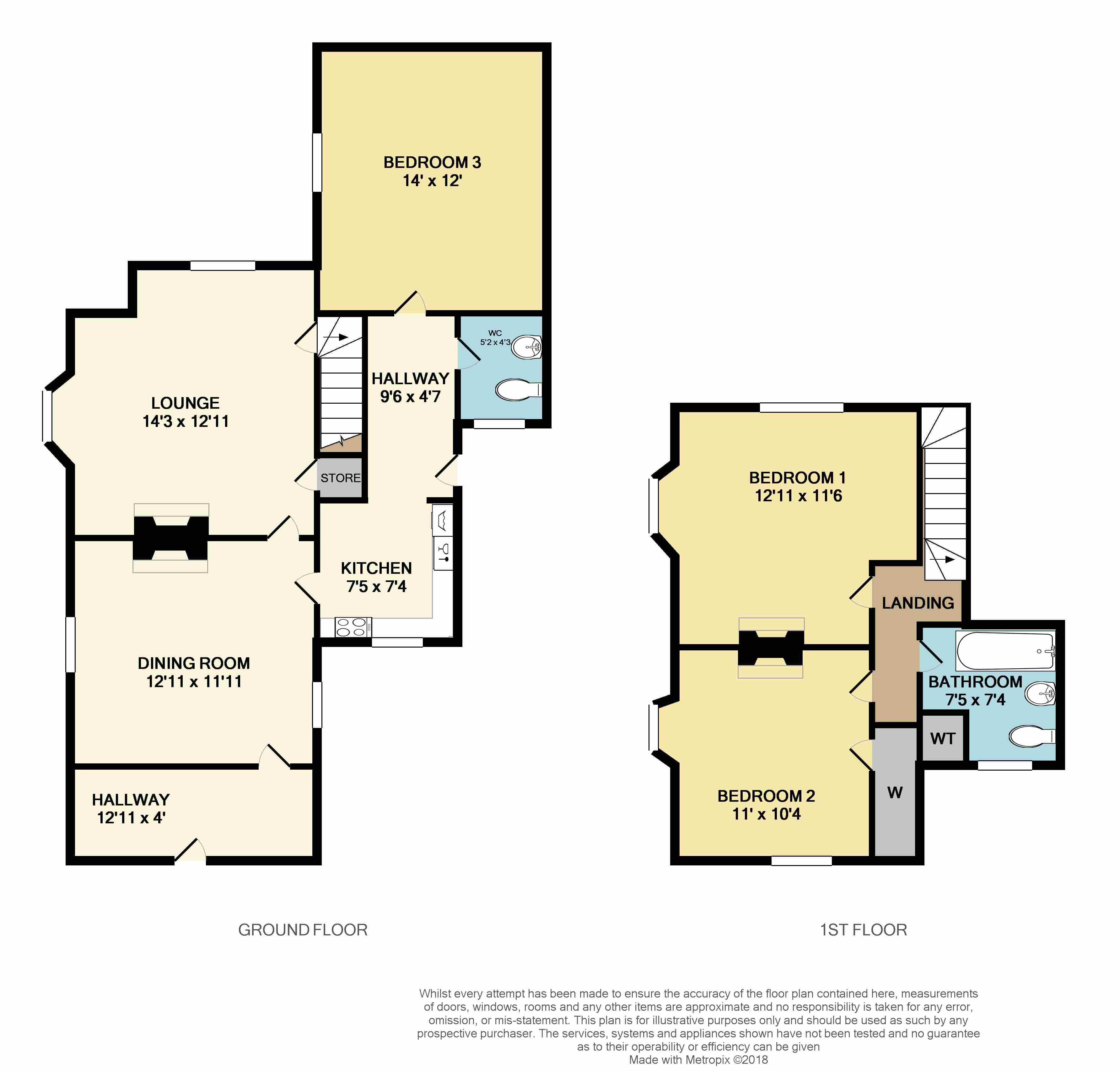 Floorplans For Flint Hill, Winwick, Northampton
