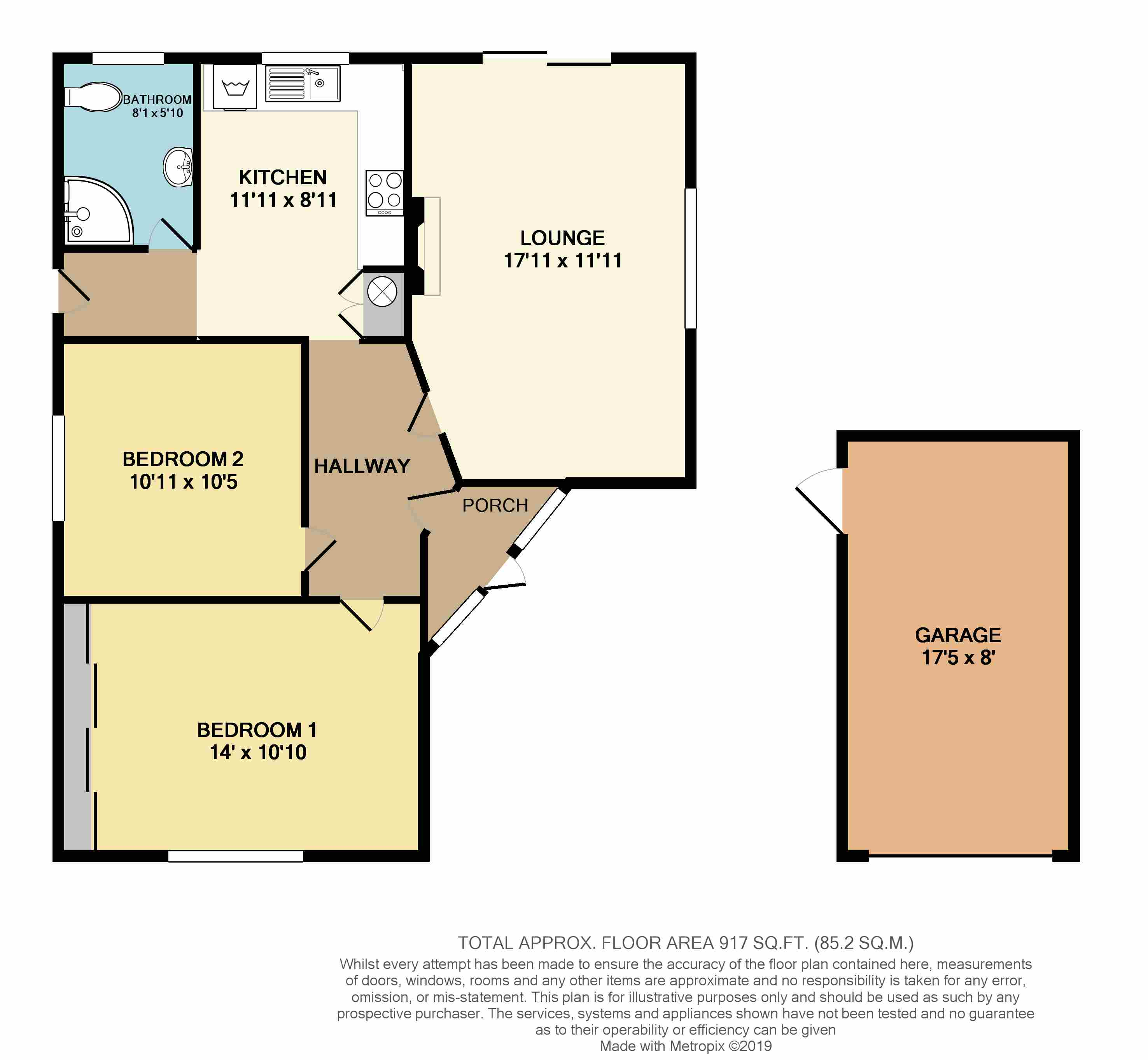 Floorplans For Manor Road, Kilsby, Rugby