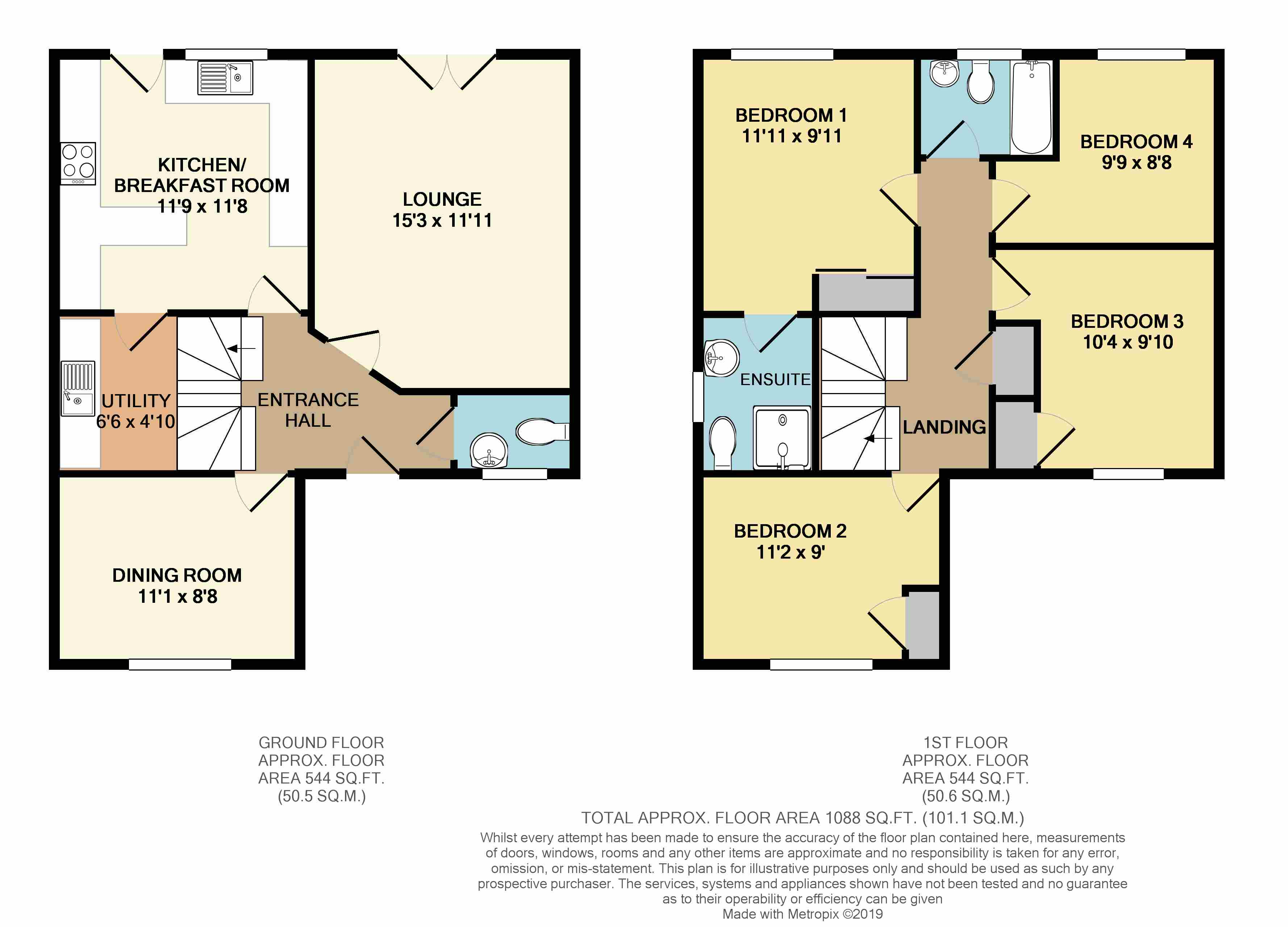 Floorplans For Calvert Close, Rugby