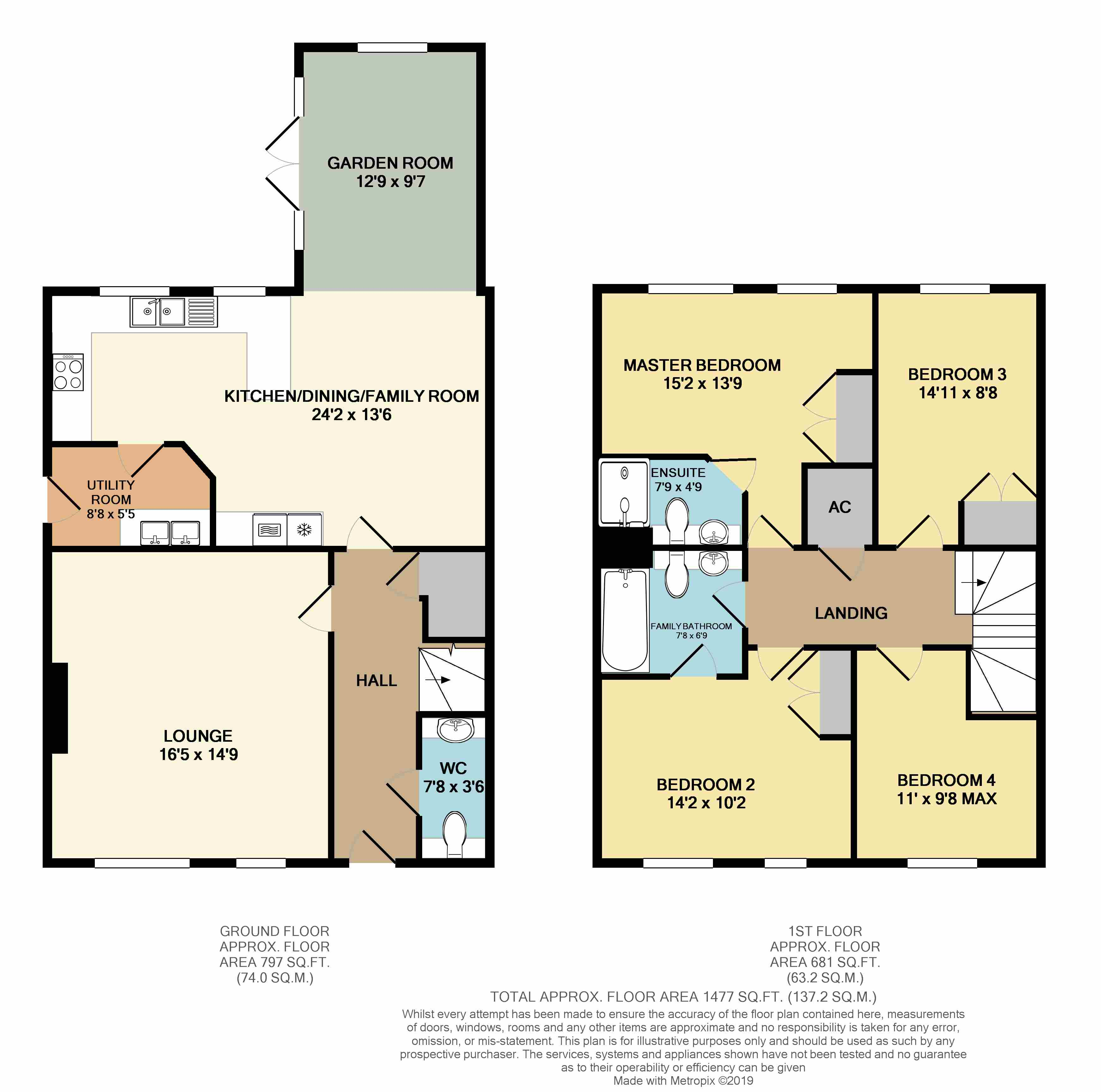 Floorplans For Fynes Way, Rugby