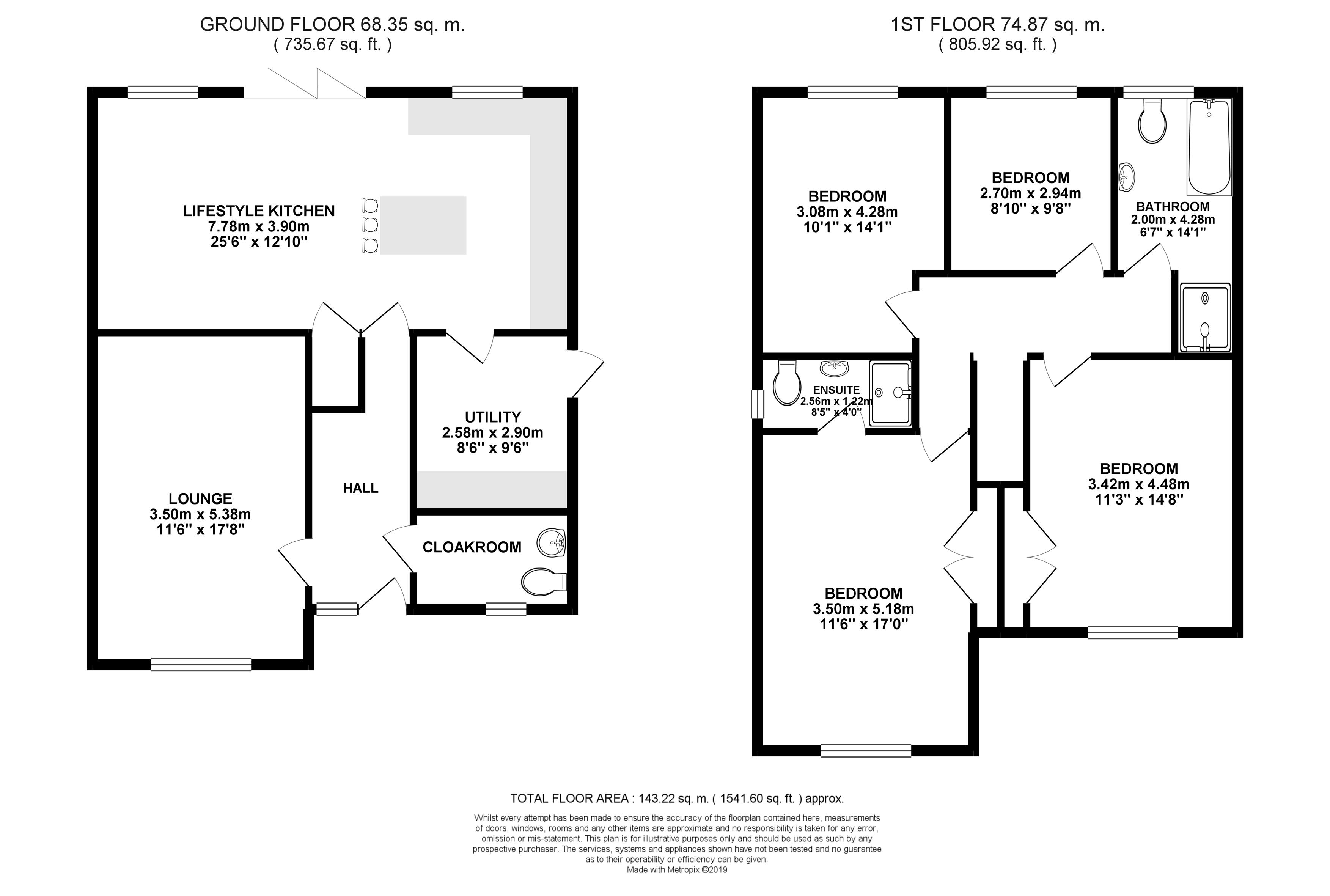 Floorplans For Park Lane, Rugby