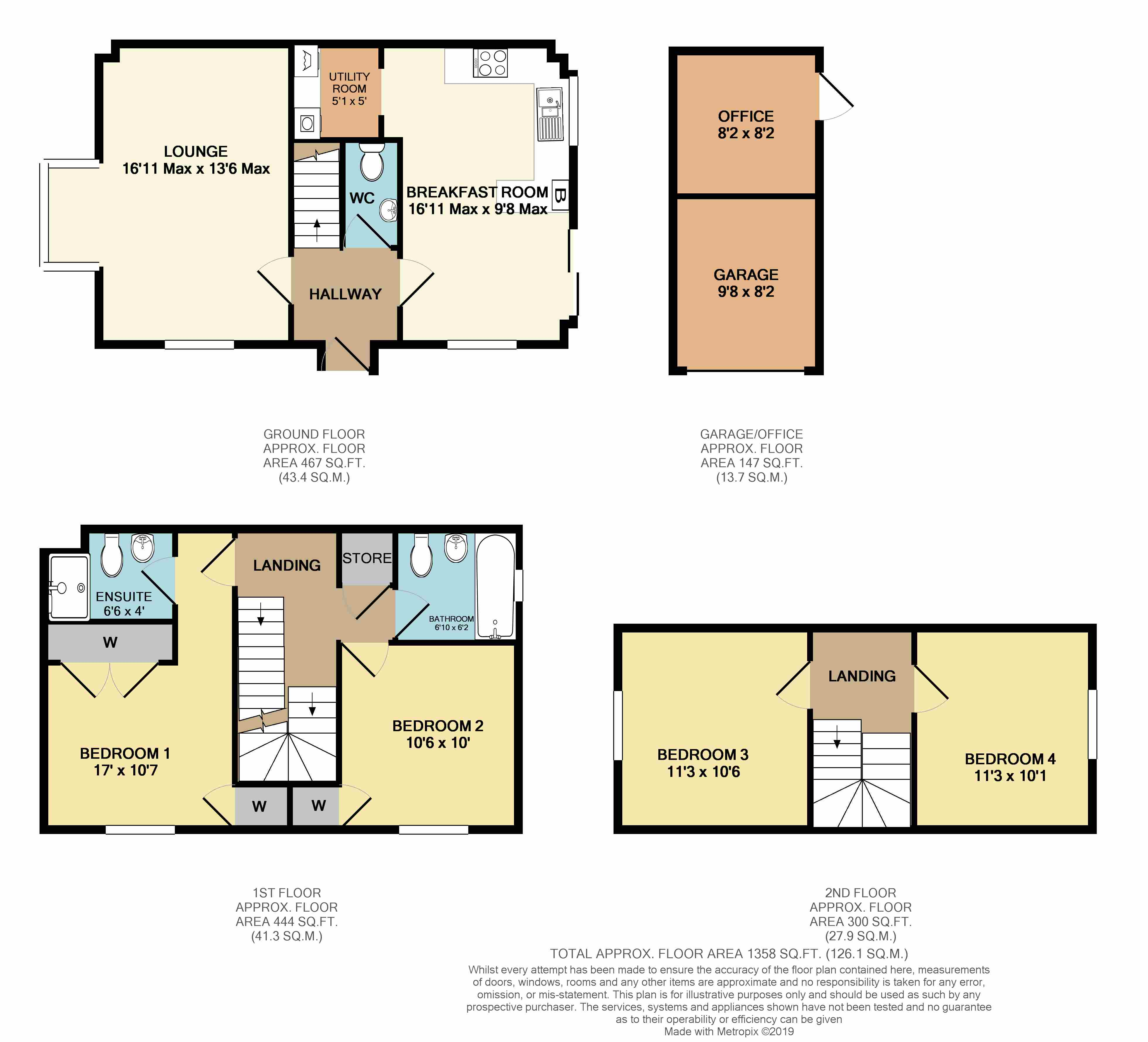 Floorplans For Whitefriars Drive, Rugby