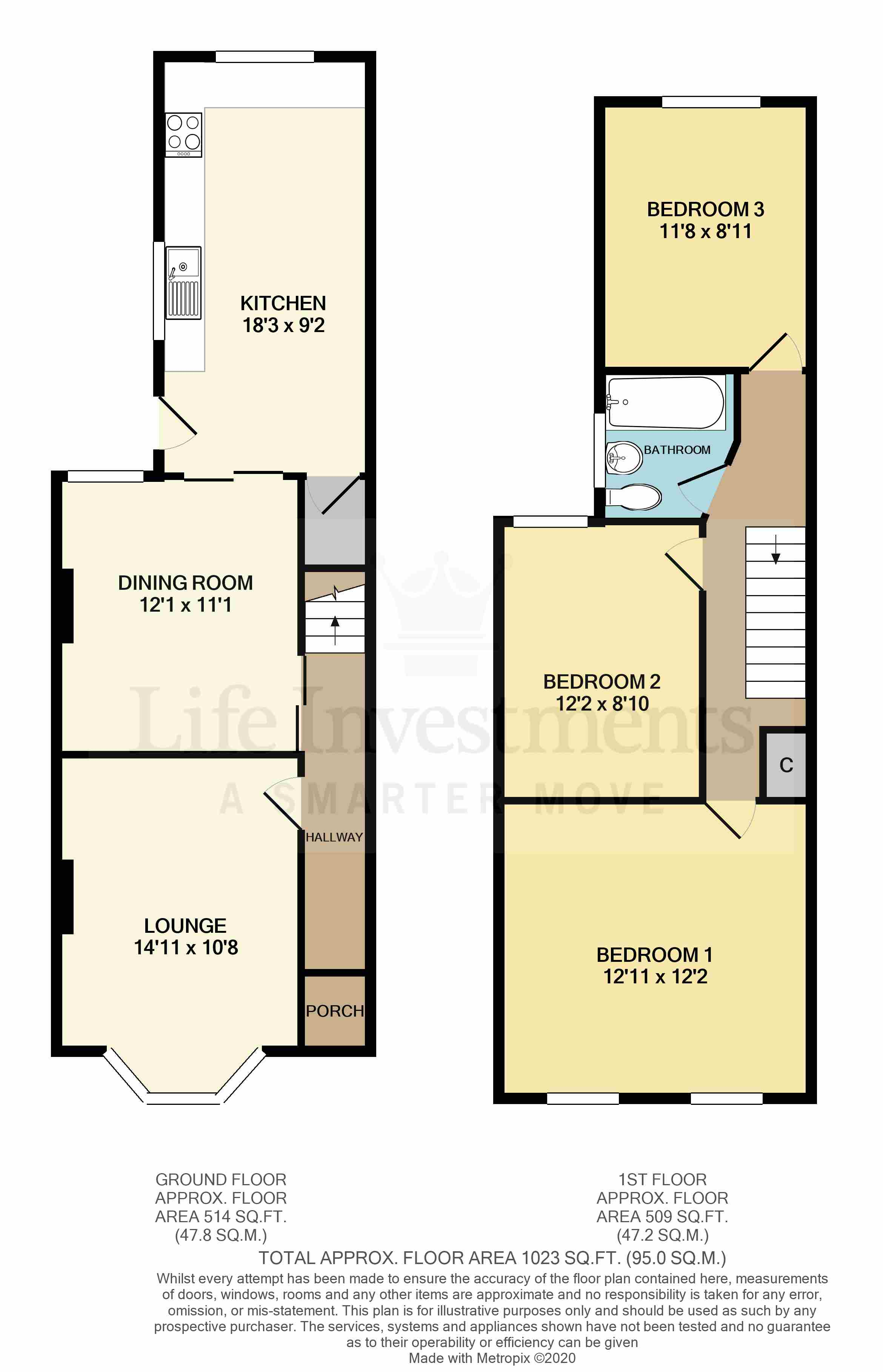 Floorplans For Coniston Road, Earlsdon, Coventry