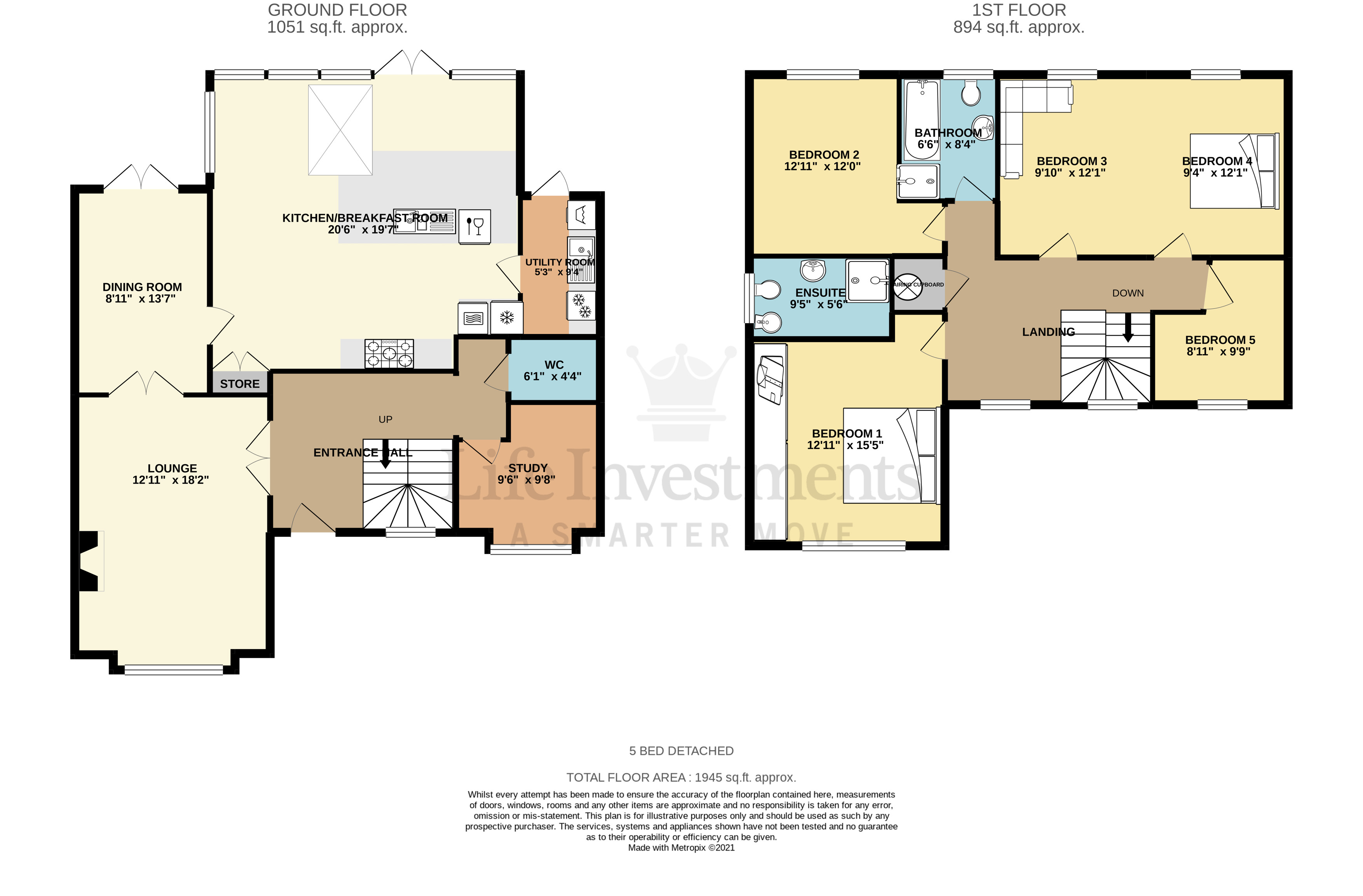 Floorplans For Cave Close, Cawston, Rugby
