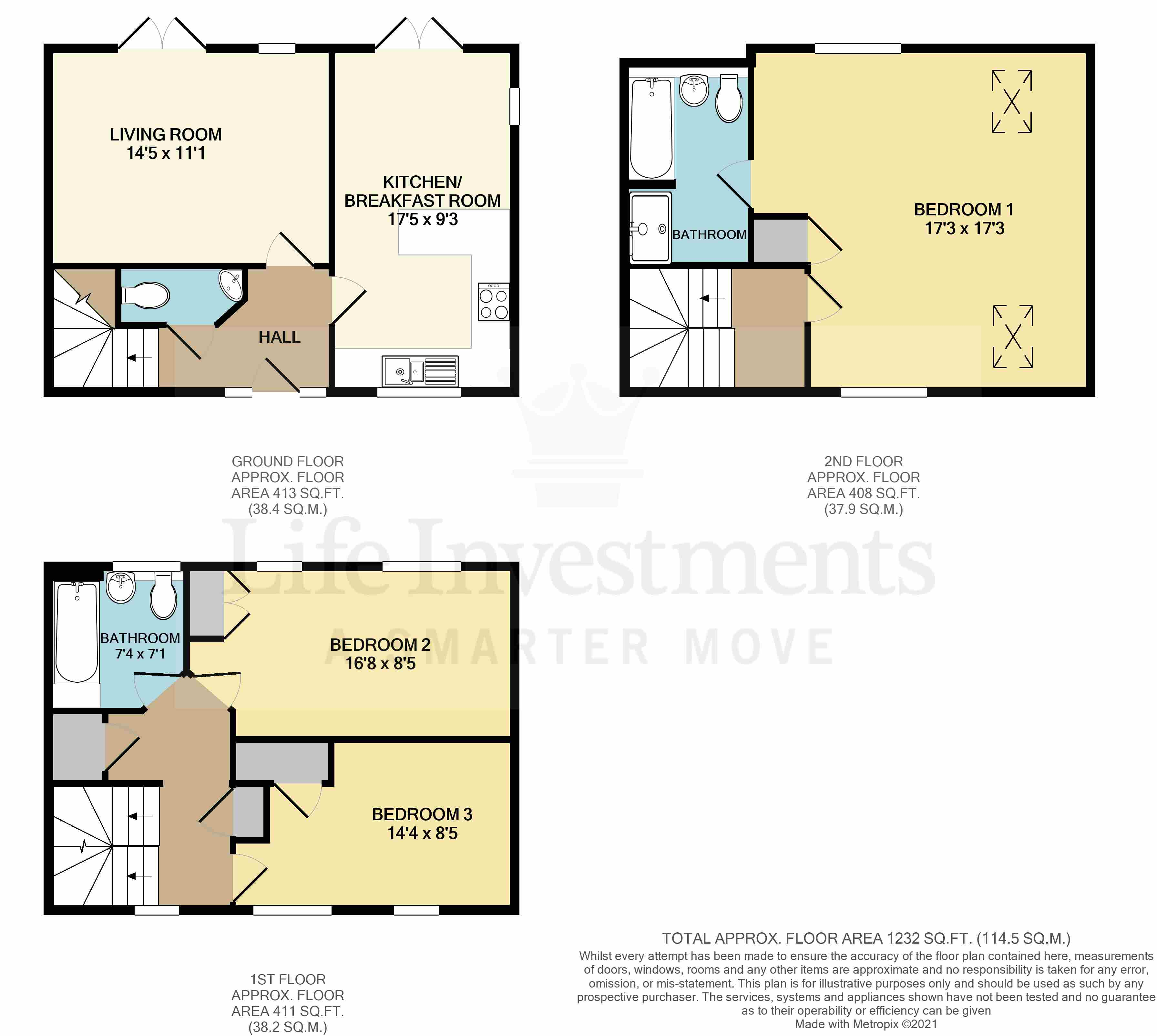 Floorplans For Drummond Road, Cawston, Rugby