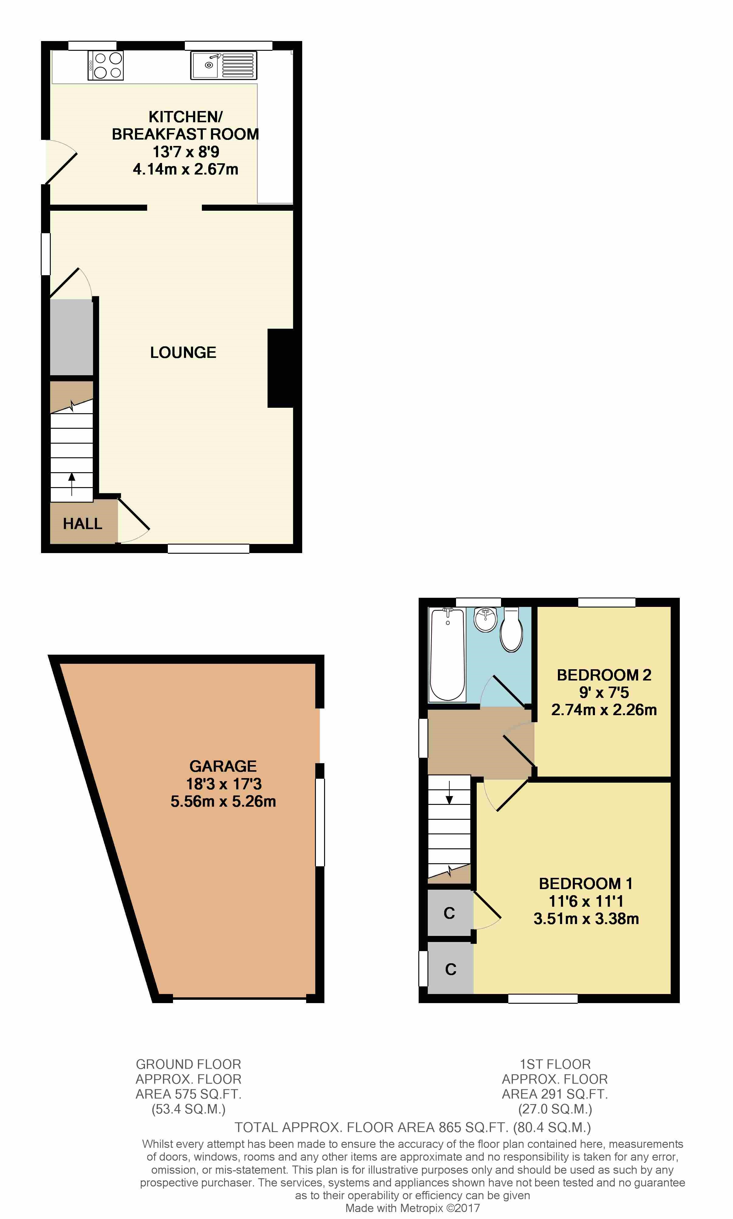 Floorplans For Magdalen Road, Willoughby, Rugby